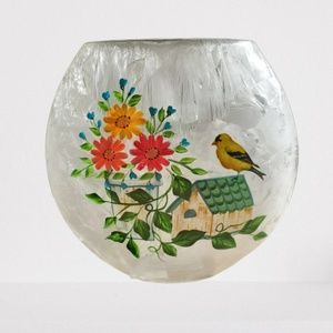 Audrey's Frosted Glass Light Luminary - Gold Finch